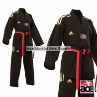 Adidas Champion Taekwondo Uniform, All Black