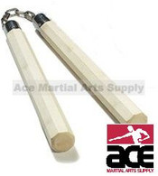 WHITE WAX OCTAGON BALL BEARING NUNCHAKU
