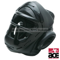 Vinyl Head Gear with Cage, Black