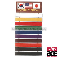 10 Level Martial Arts Karate, Taekwondo,Belt Display Rack
