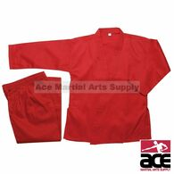 Pine Tree Karate Uniform - Medium Weight, Poly/Cotton, Red