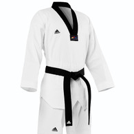 Adidas Club Taekwondo Uniform, Black Lapel
