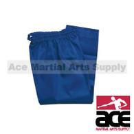 Color Martial Arts Uniform Pants (Karate and Taekwondo), Blue
