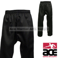 Black Martial Arts Uniform Pants (Karate and Taekwondo), Black