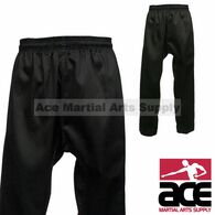 Black Martial Arts Uniform Pants (Karate and Taekwondo), Black