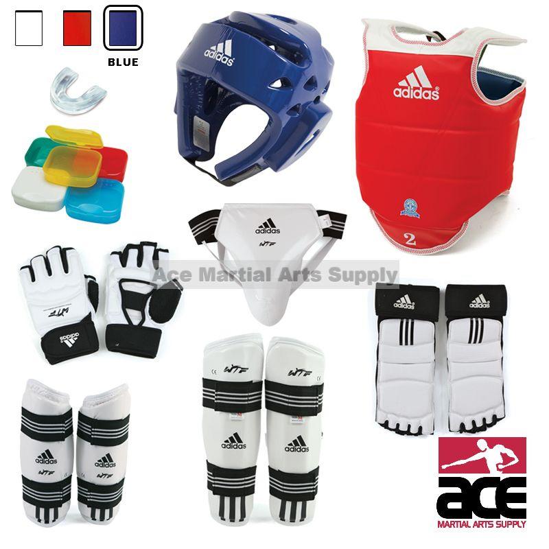Adidas Supreme Taekwondo Sparring Gear Set w/ Shin Guards and Groin