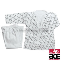 Hapkido Uniform - White w/ Black Stitching