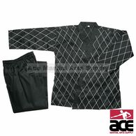 Hapkido Uniform - Black w/ White Stitching