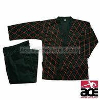 Hapkido Uniform - Black w/ Red Stitching