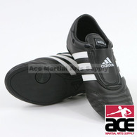 Adidas SM II Shoes, Black with White Stripes