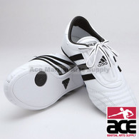 Adidas SM II Shoes, White w/ Black Stripes