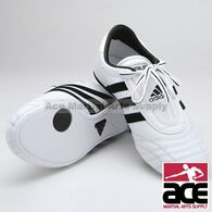 Adidas SM II Shoes, White w/ Black Stripes