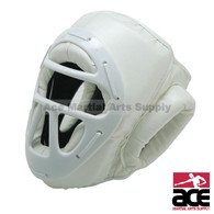 Vinyl Head Gear with Cage, White