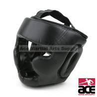 Leather Head Gear with Cheek Protection