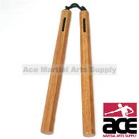 """Nunchaku Cord Wood Octagon -14"""""""