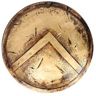 300 King Leonidas Battle Worn Spartan Shield Movie Prop