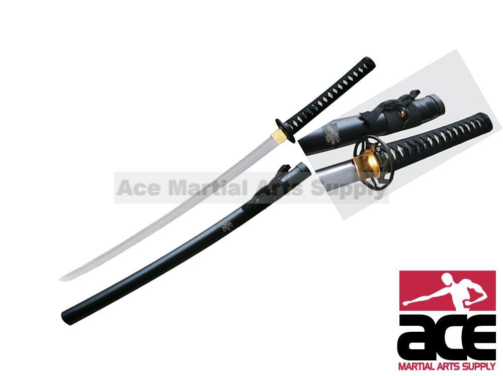 1045 High Carbon Steel Handmade Musashi Paulownia Mon Katana Sword