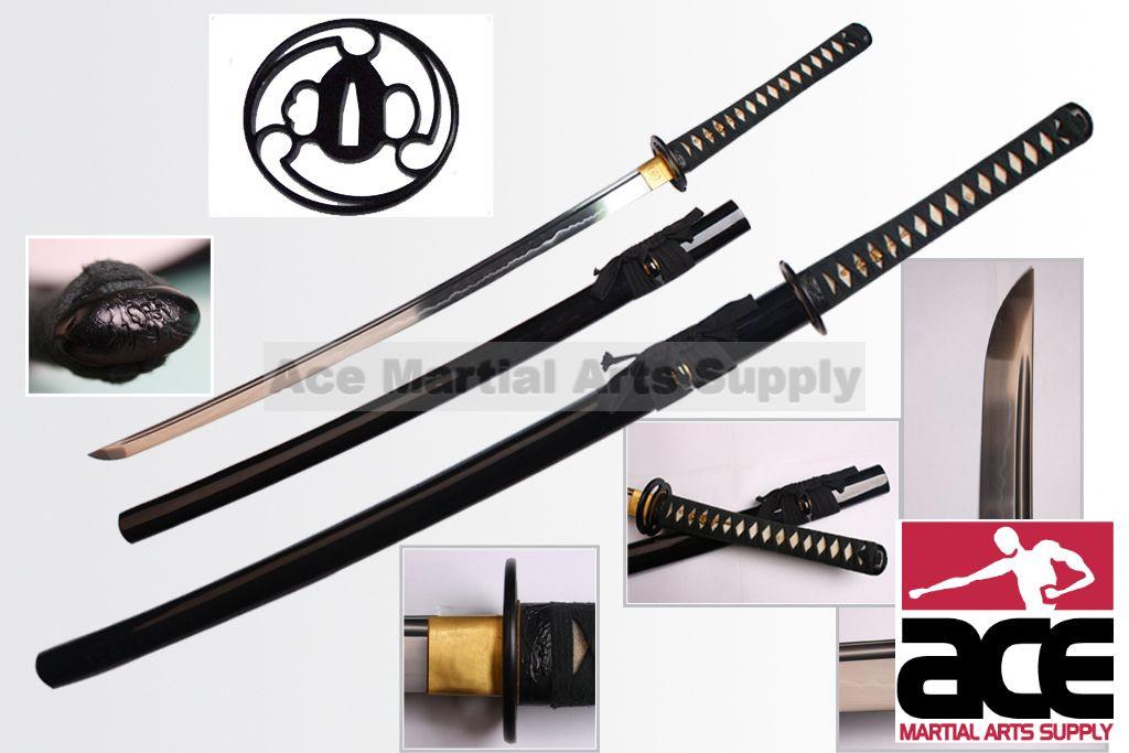 Musashi Damascus Steel Handmade Samurai Katana Sword with Antique Finish Fitting