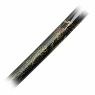 "Handmade with sharp high carbon steel blade. 41"" total length. Iron guard features a golden phoenix and wing design. Decorative hardwood scabbard w/ phoenix design.  Black hardwood scabbard."