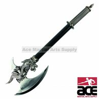 Dragon King Fantasy Medieval Battle Axe With Dagger