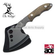 Elk Ridge Tactical Axe hatchet With Pakkawood Handle