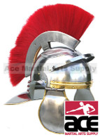 Roman Centurion Officer Helmet with Red Plume