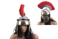 Roman Centurion Helmet With Red Plume Armor Gladiator