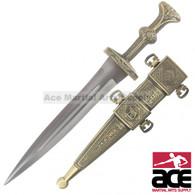 Roman Legionnaire Gold Dagger Gladiator Short Sword Soldier Knife