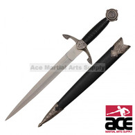"""14"""" Historical Medieval Dagger with Scabbard"""