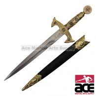 Knight's Crusader Templar Dagger with Scabbard