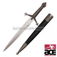 "16"" Medieval Scottish Claymore Dagger with Scabbard"