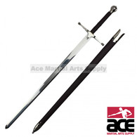 "44"" Braveheart William Wallace Two-Handed Great Sword with Scabbard"