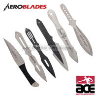 THROWING KNIFE SET OF 6 9""