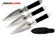 """6.5"""" 3 pcs set silver throwing knife with scorpion"""
