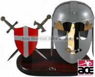 Display Shield with Double Daggers