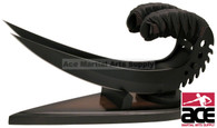 "9"" Black Handled Dual Claw Set With Wooden Display"