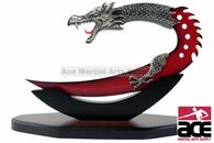 "11.5"" Fantasy Dragon Dagger with Stand - Red"
