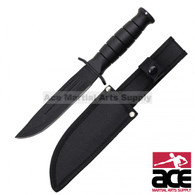 "10.25"" Tanto Blade All Black Hunting Knife (Black)"