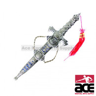 "14.25"" Silver color dragon dagger"