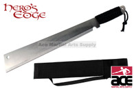"19"" Full Tang Cord Wrapped Handle Machete W/ Sheath and Shoulder Strap"