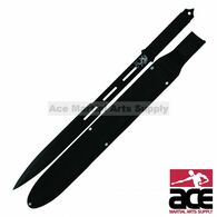Full Tang Black Straight Ninja Sword with Sheath