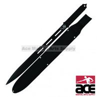 Full Tang Black Straight Ninja Sword with Sheath