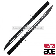 "26"" Dual Full Tang Blade Black Ninja Swords"