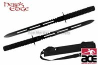 "26"" Full Tang Blade Black Ninja Twin Sword"