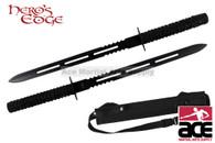 "26"" Full Tang Blade Black Ninja Twin Sword"