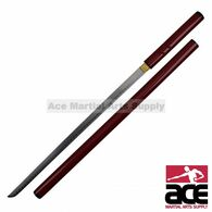 Red Zatoichi Shirasaya Sword Japanese Samurai Katana