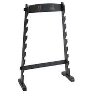8 Piece Black Wooden Floor Stand