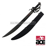 """11"""" Pirate Sword With Handle Design And Black Sheath"""