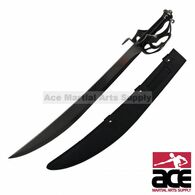 "11"" Pirate Sword With Handle Design And Black Sheath"