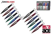 """6.5"""" 12 pcs set two tones blade throwing knife"""